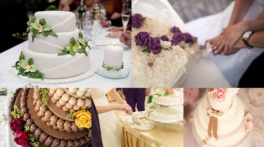 Растровый клипарт - подборка свадебных тортов 5