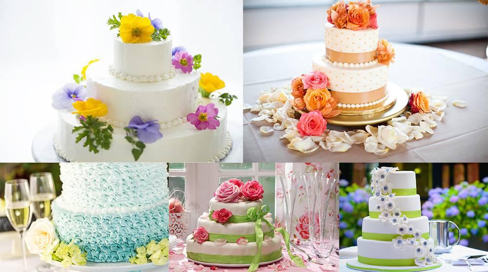 Растровый клипарт - подборка свадебных тортов 6