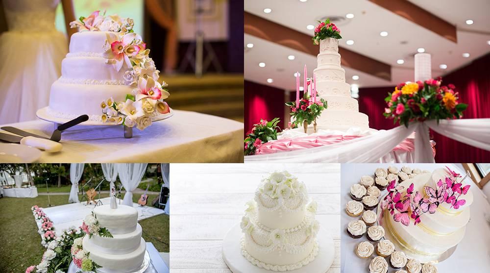 Растровый клипарт - подборка свадебных тортов 7