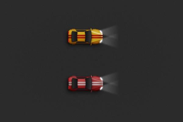 Рисуем гоночные машины в Adobe Photoshop результат