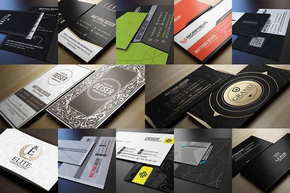 Шаблоны бизнес визиток - Растровый клипарт 2