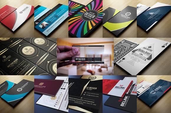 Шаблоны бизнес визиток - Растровый клипарт
