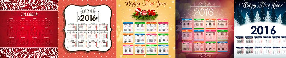 Новогодние календари на 2016 год - Рождественские календари