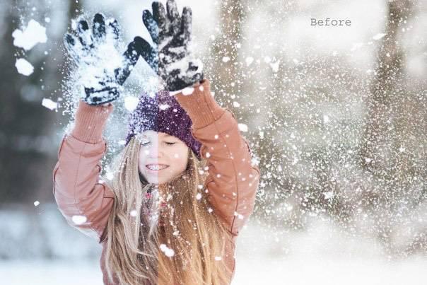 Пресеты для Lightroom - Зимний теплый пресет