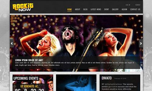 Шаблон для Wordpress - Rockit Now v2.1 - Music Band2