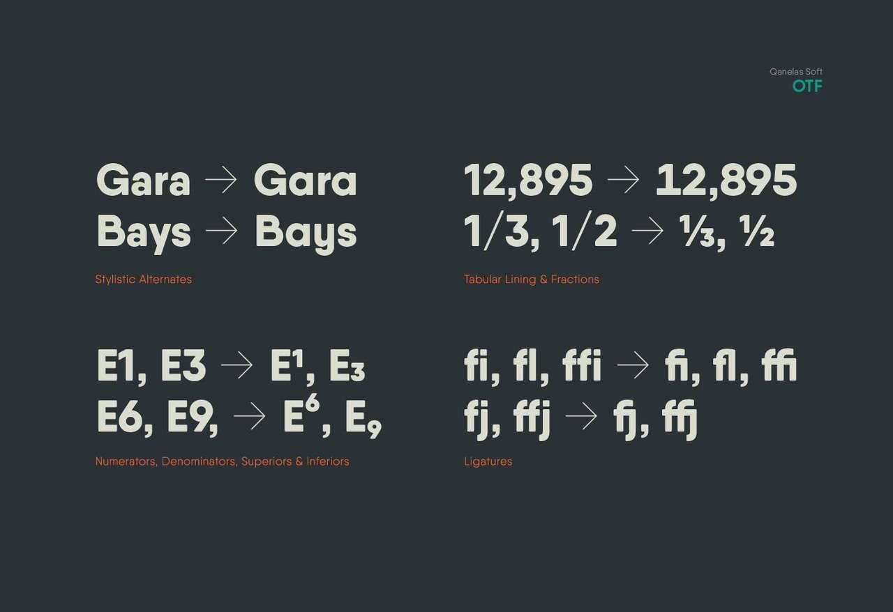 Шрифт - Qanelas Soft Typface Латиница + Кириллица