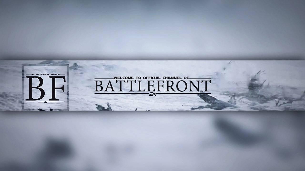 PSD Шаблон - Шапка и Аватар для ютуба BattleFront