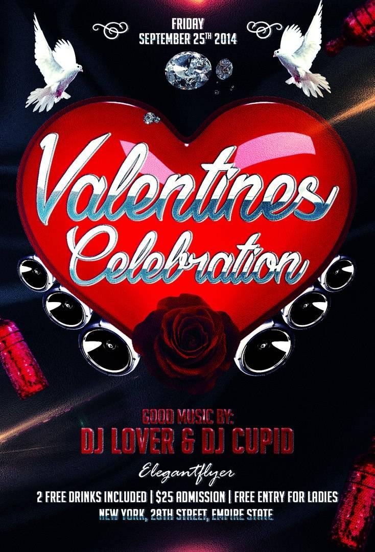 Флаер и Афиша в формате psd Valentines_Celebration