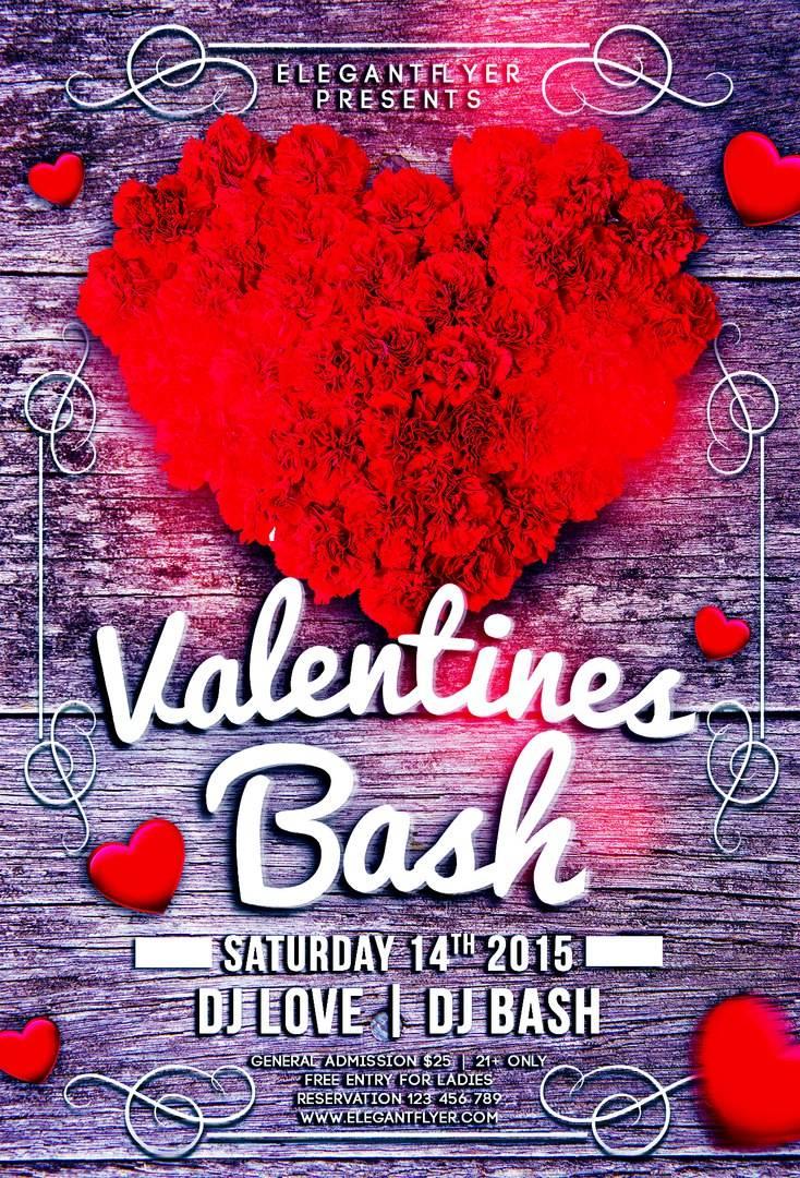 Шаблон Афиши -Флаера psd Valentines_Bash