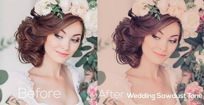 Пресеты для Lightroom Wedding Sawdust Tone