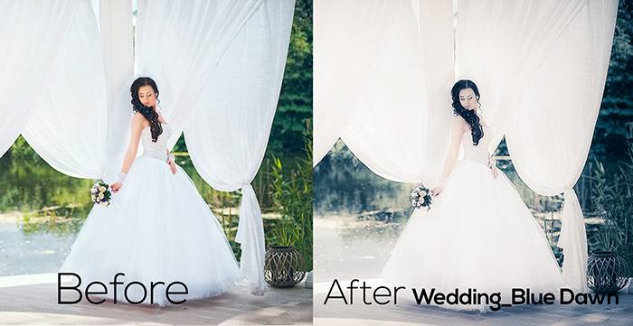 Пресеты для Lightroom Wedding_Blue Dawn
