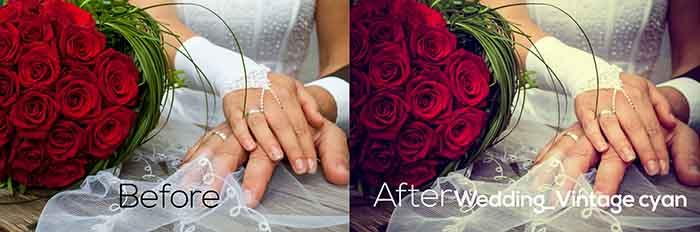 Свадебные Пресеты для Lightroom Wedding_Vintage cyan