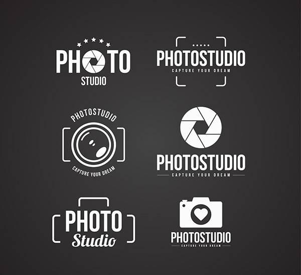 Набор логотипов для фотографа и фотостудии