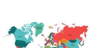 Политическая карта мира - векторный клипарт