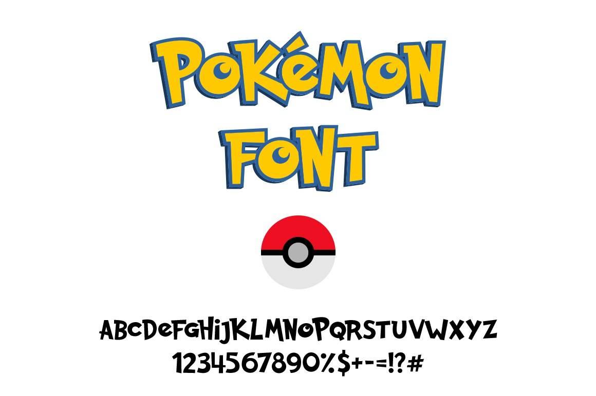 Скачать шрифт - Pokemon GO Font
