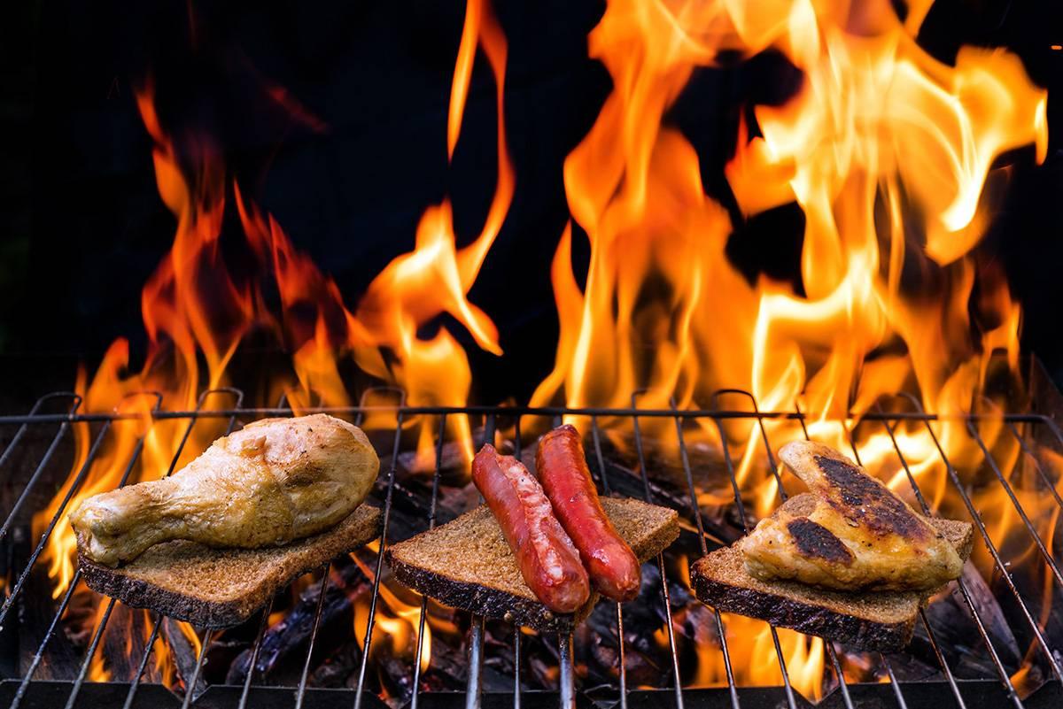 Растровый клипарт - Мясные блюда: Шашлык, сосиски, стейки и курица