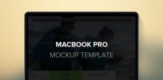 Ноутбук Macbook Pro - Mock up в формате psd