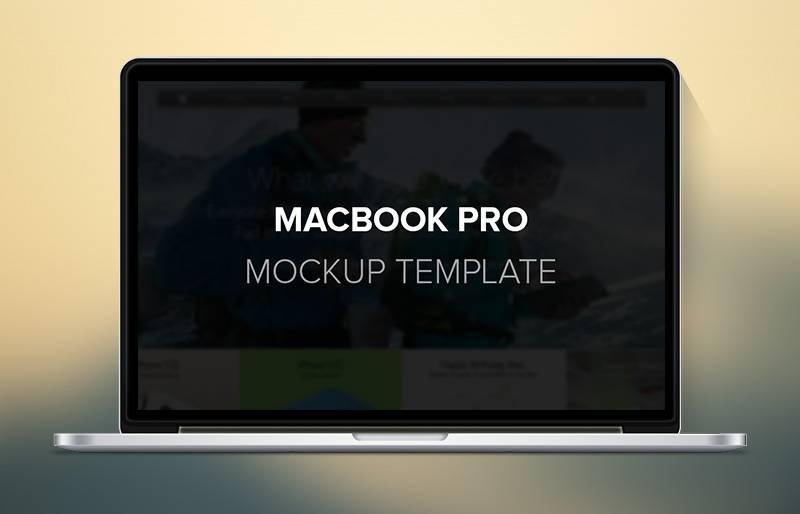 Ноутбук Macbook Pro - Mock up в формате psd