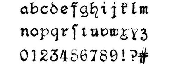 Шрифт - F25 Blackletter Typewriter