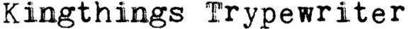 Шрифт - Kingthings Trypewriter
