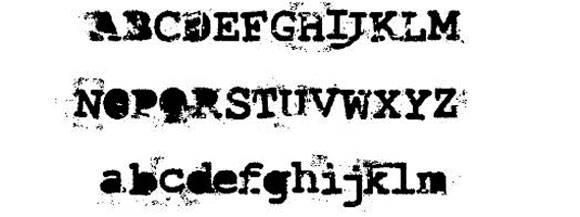 Шрифт - Last Draft Font
