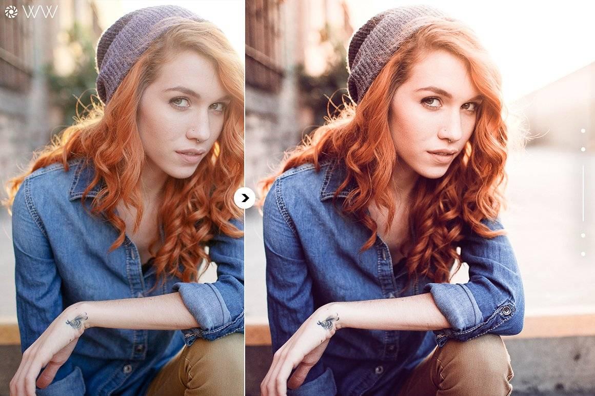 Пресеты для Lightroom - Лучшие портретные пресеты рыжие волосы