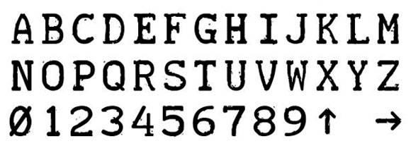Шрифт - Teletype 1945 — 1985