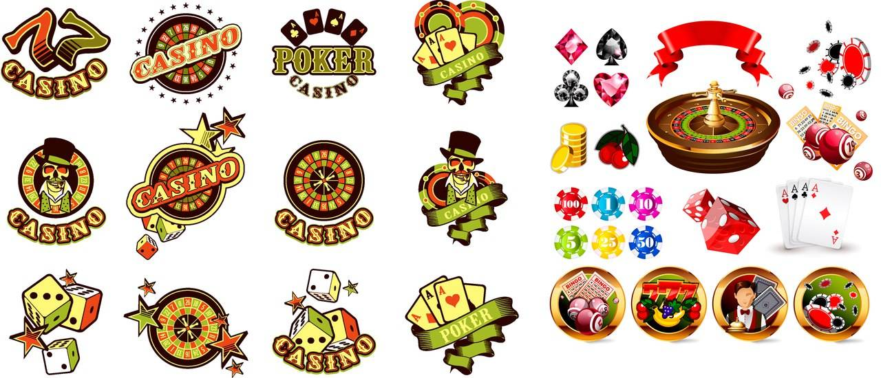 Большая подборка логотипов - Казино и игровые автоматы