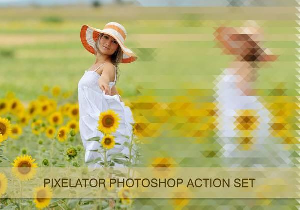 Экшен для фотошопа - Pixelator