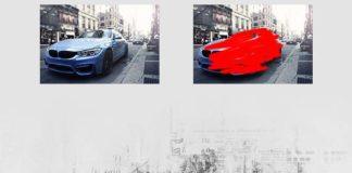 Экшен - стиль газетная печать Photoshop автомобиля BMW