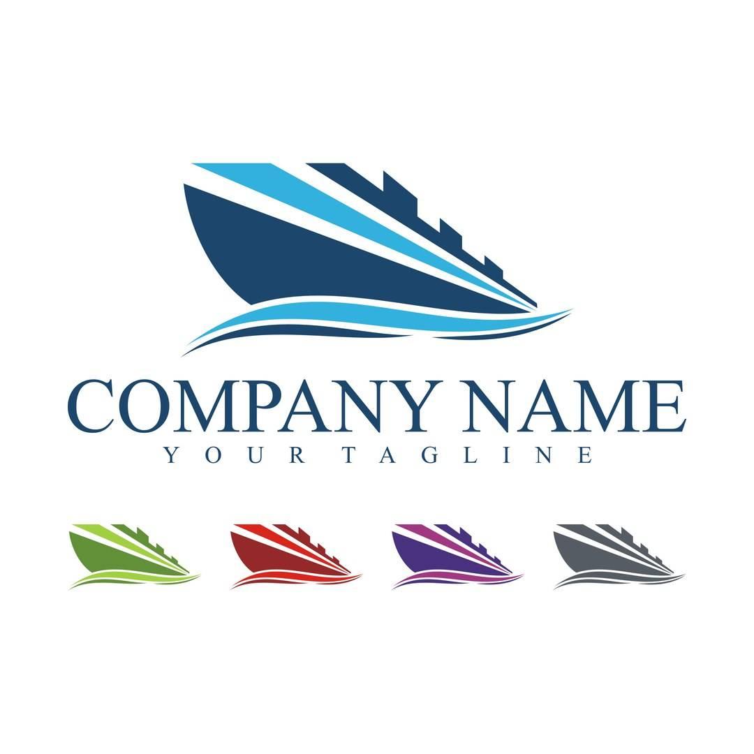 Круизный лайнер - шаблоны логотипов