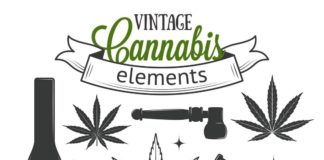 Логотипы лечебной марихуаны - шаблоны логотипов 2