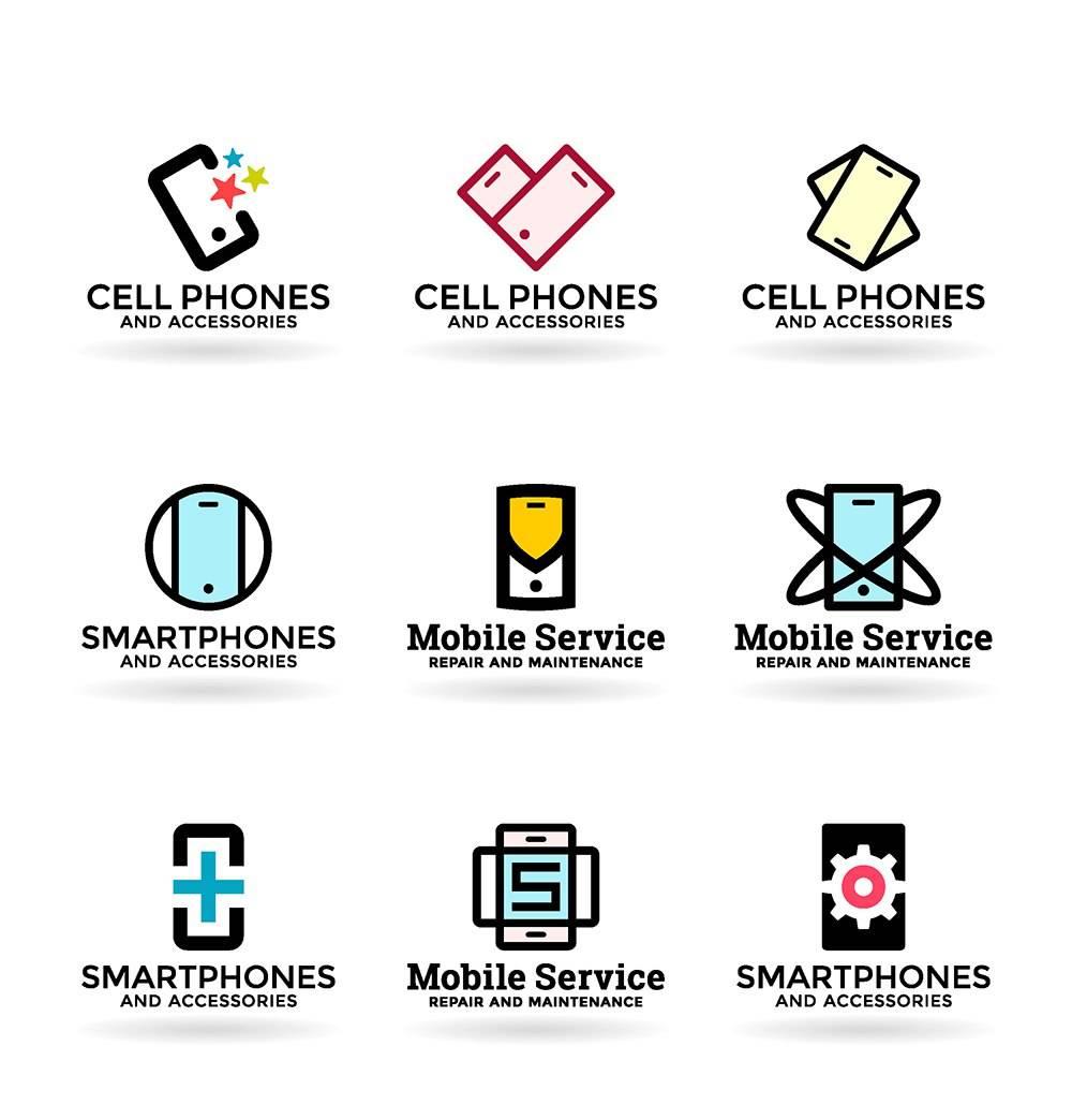 Логотипы мобильных сервисов - исходники логотипов
