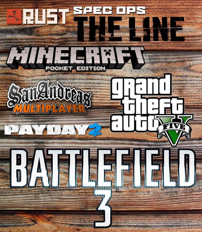 Набор Логотипов популярных игр в png формате