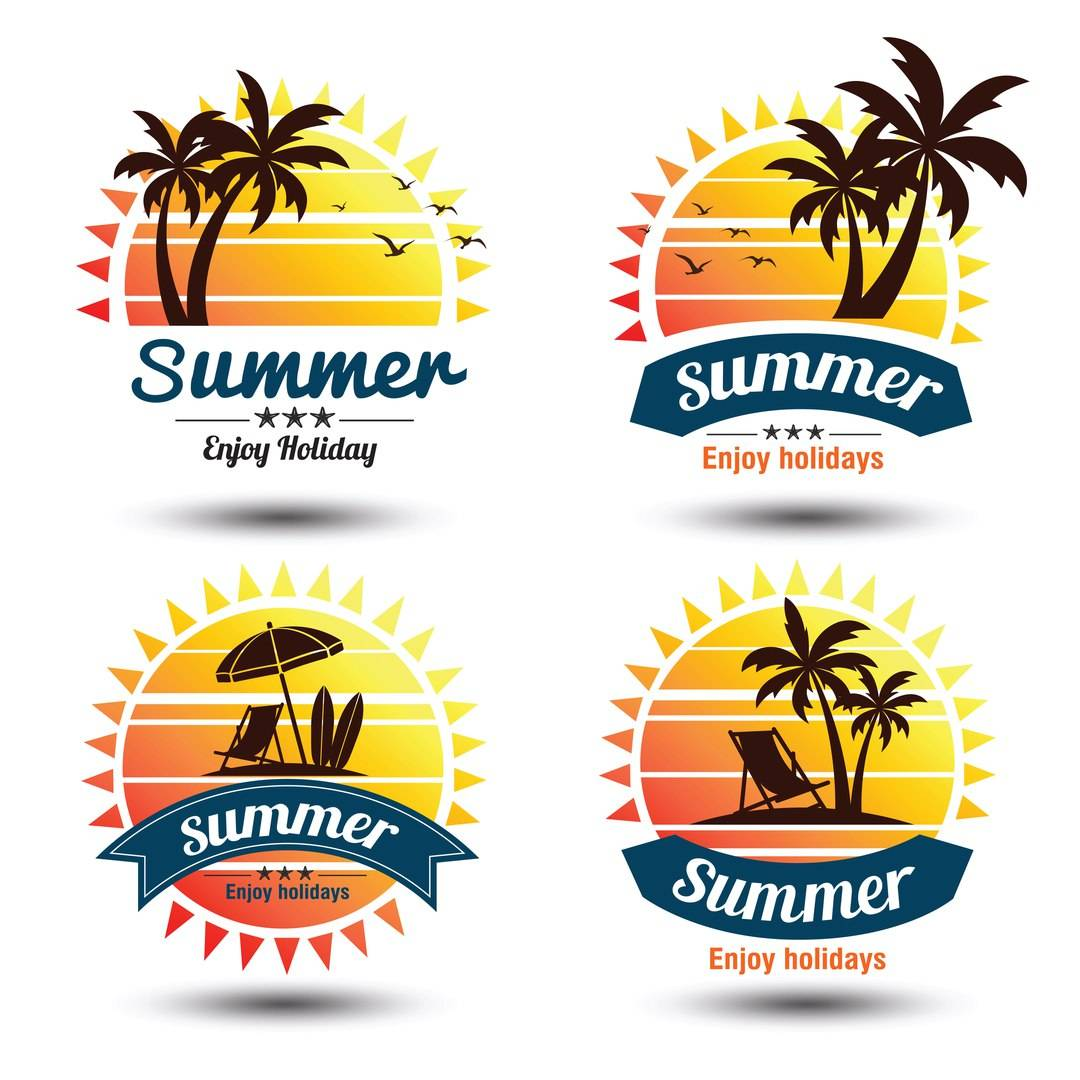 Набор логотипов туристической фирмы или агентства