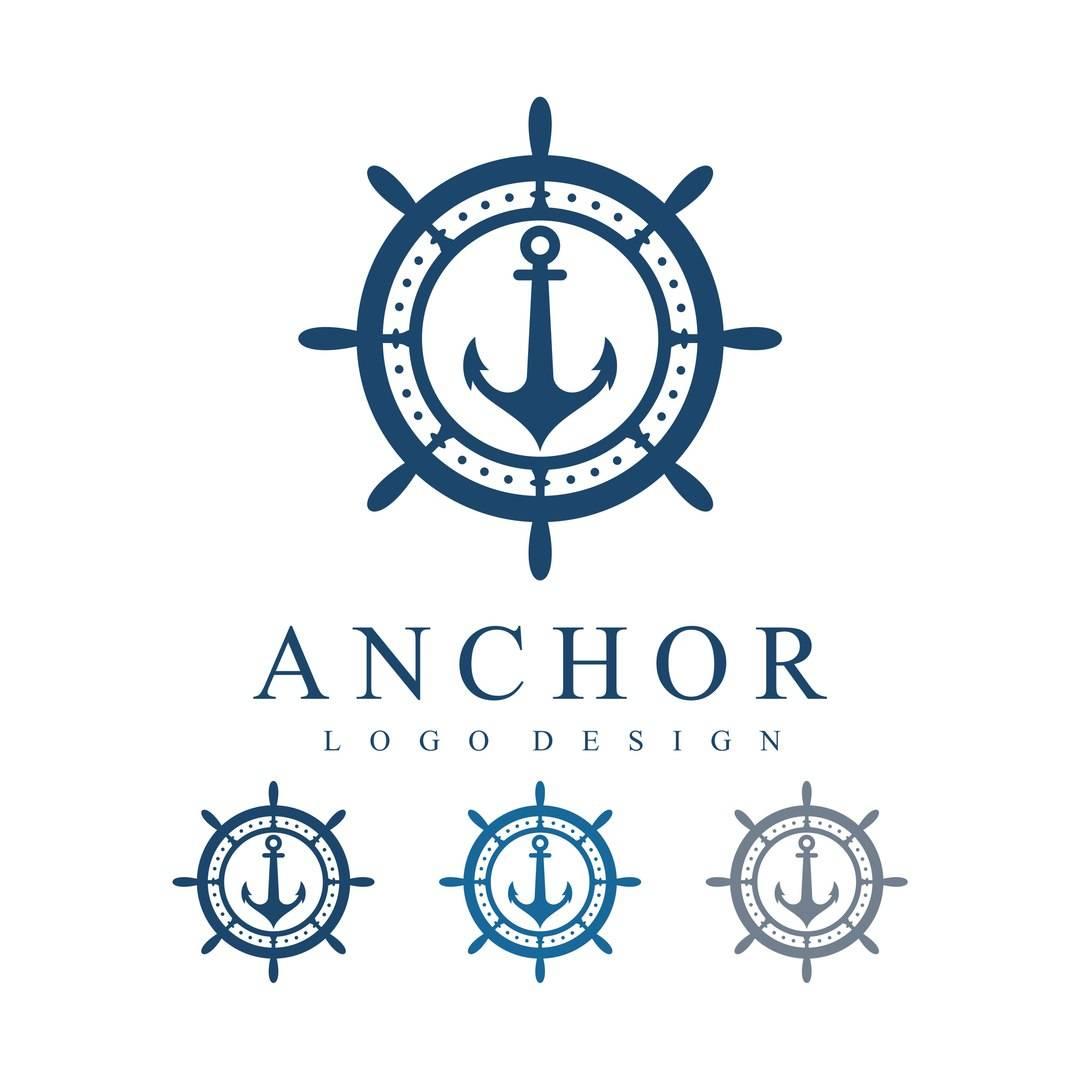 Набор морских логотипов