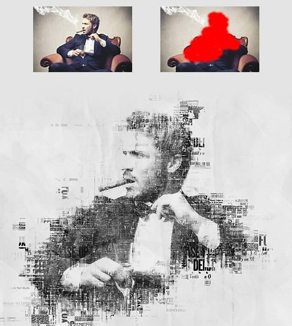 Обработка фотографии Newspaper Print Photoshop крутой экшен