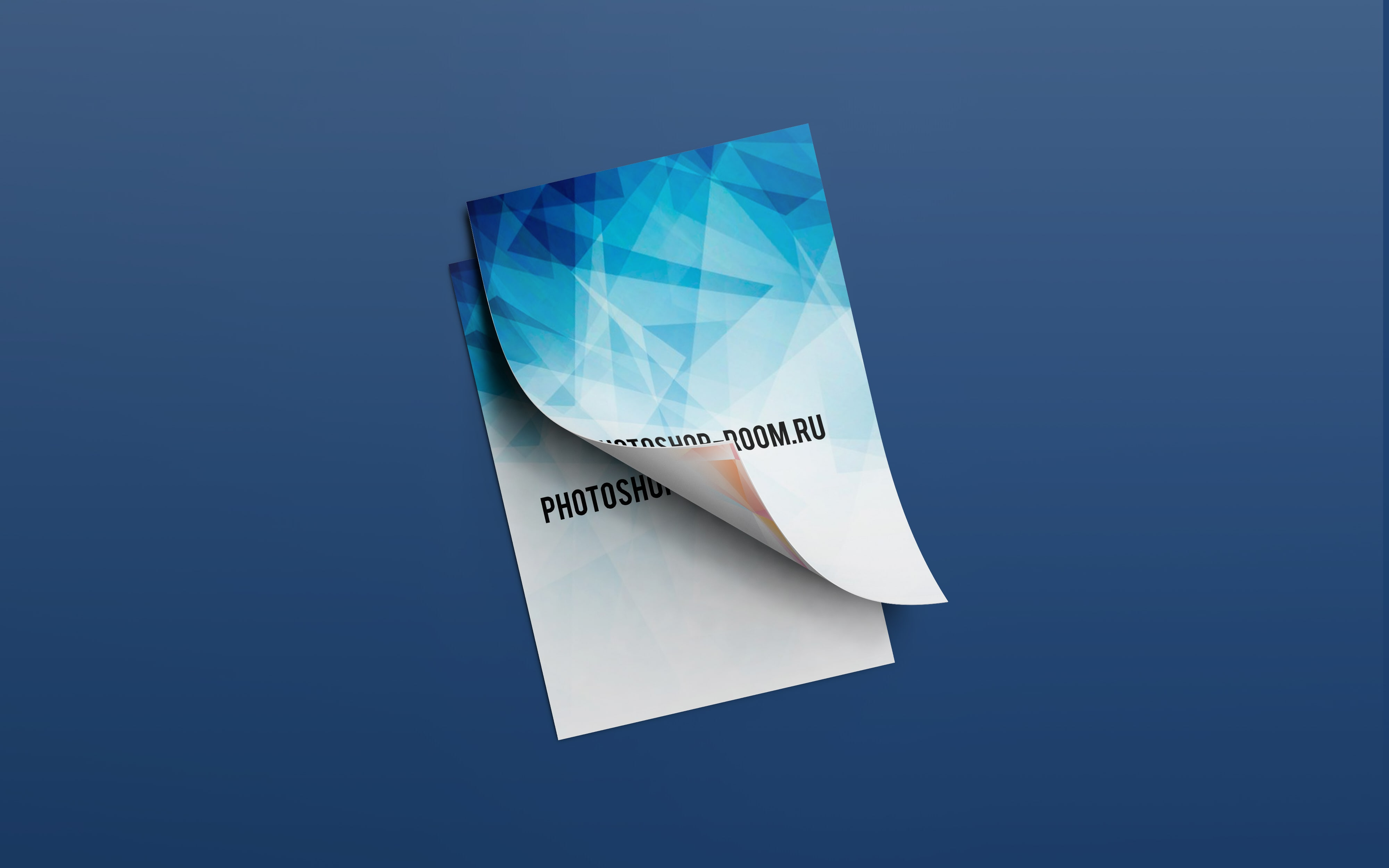 PSD Шаблон - A4 Flyer Mockup