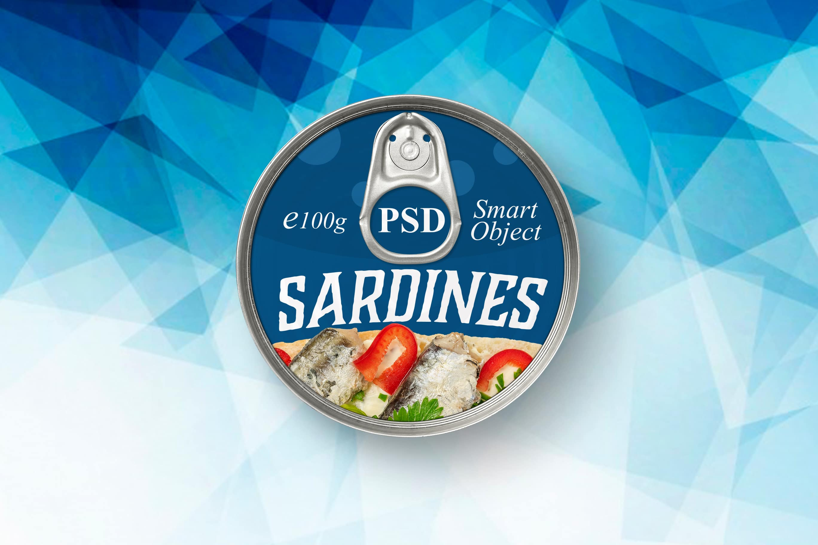 PSD исходник -Round Tin Can Mockup