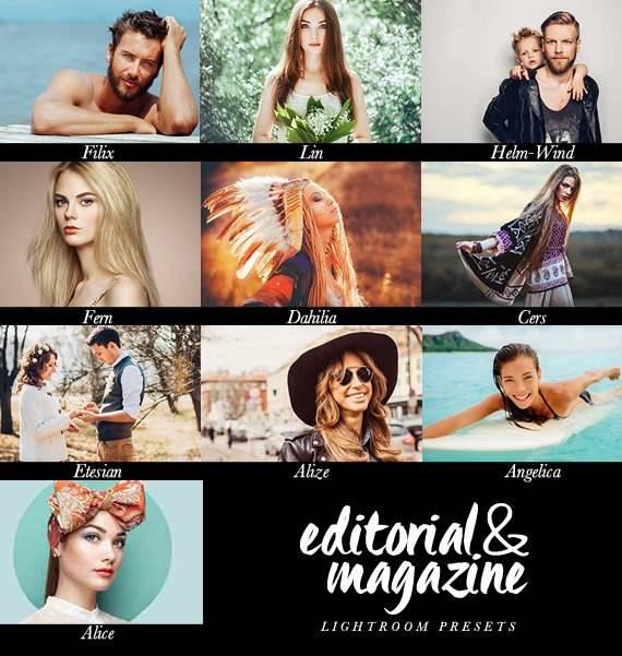 Подборка красивых журнальных пресетов для Lightroom