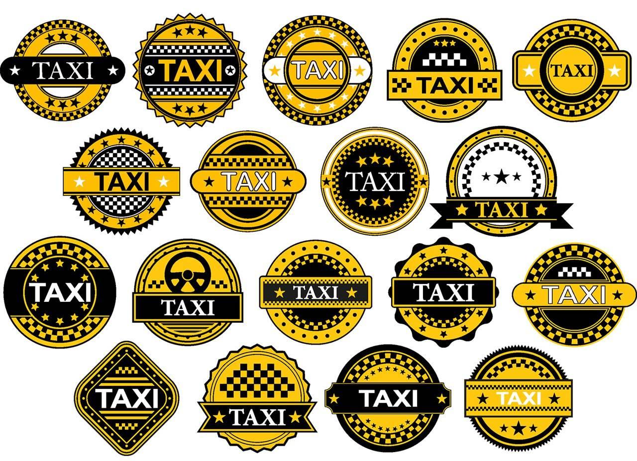Подборка логотипов такси для редактирования