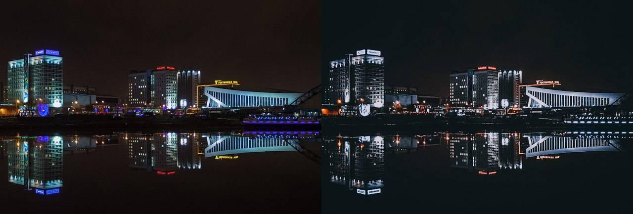 Пресет для lightroom - обработка фотографии ночного города превью
