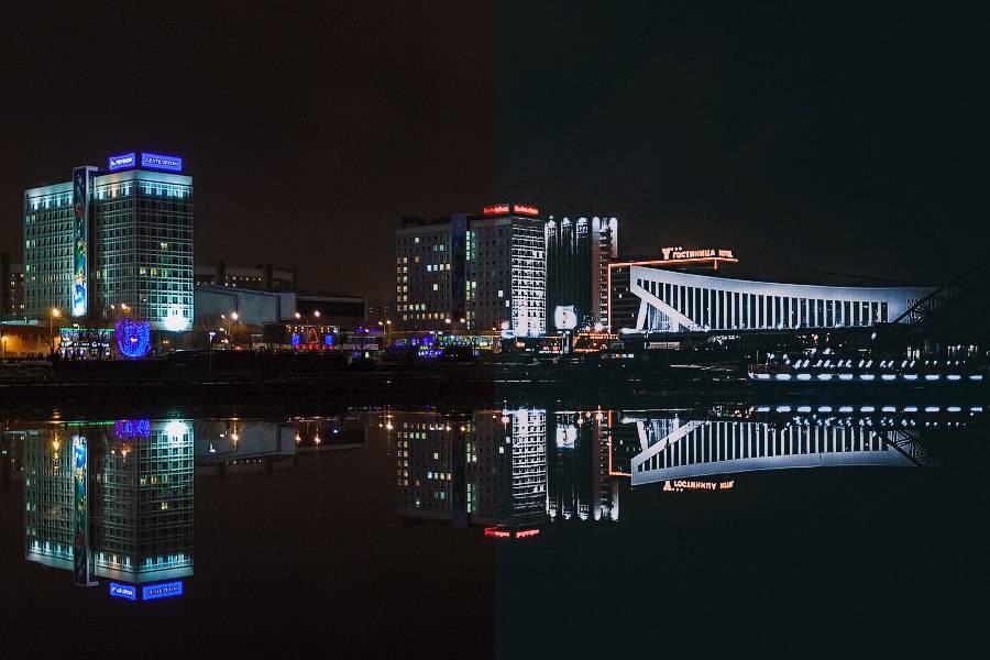Пресет для lightroom - обработка фотографии ночного города