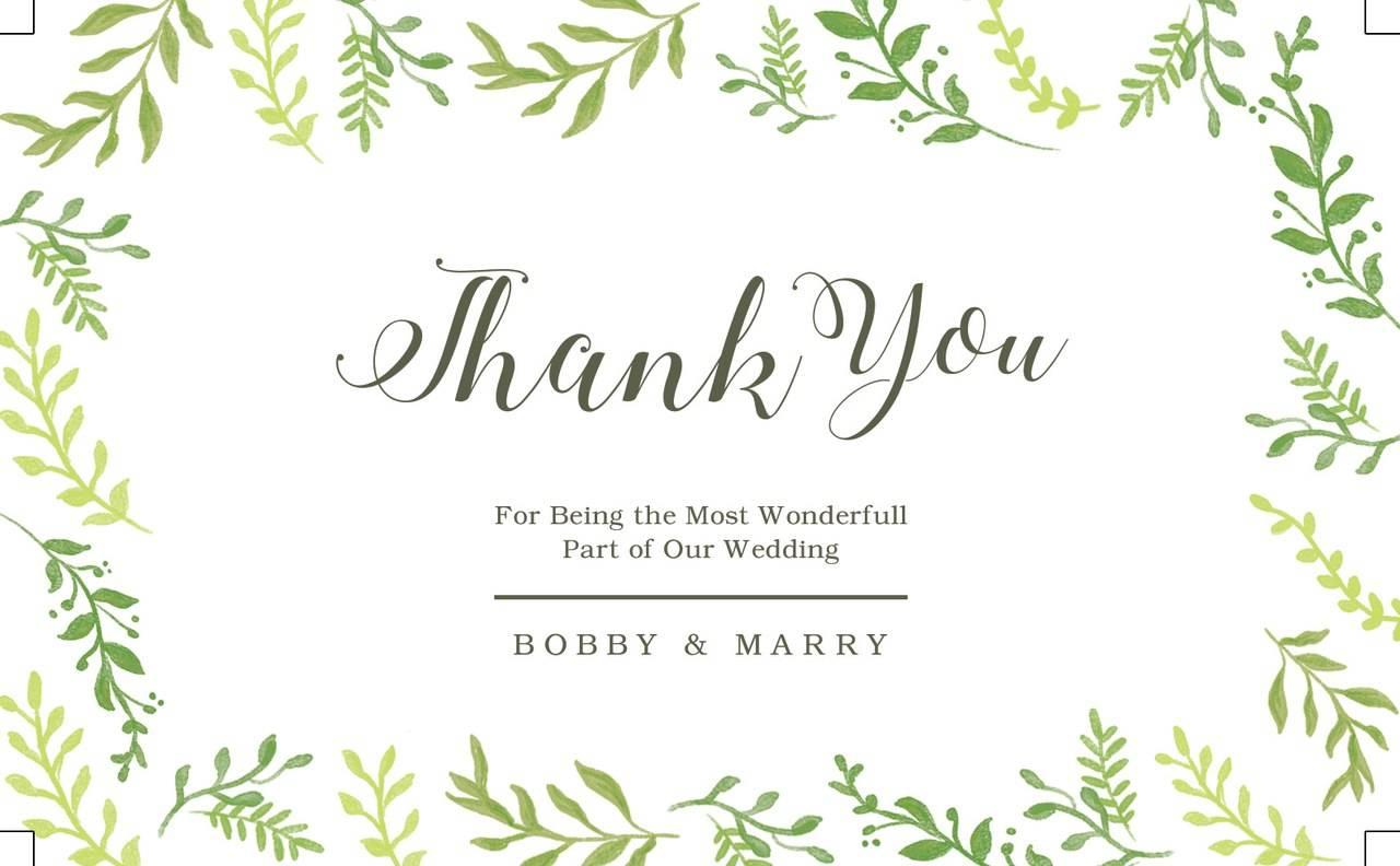 Приглашение на свадьбу - Дизайн пригласительных с листвой 2