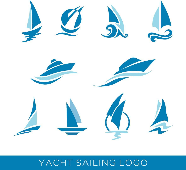 Шаблоны логотипов - логотипы лодок