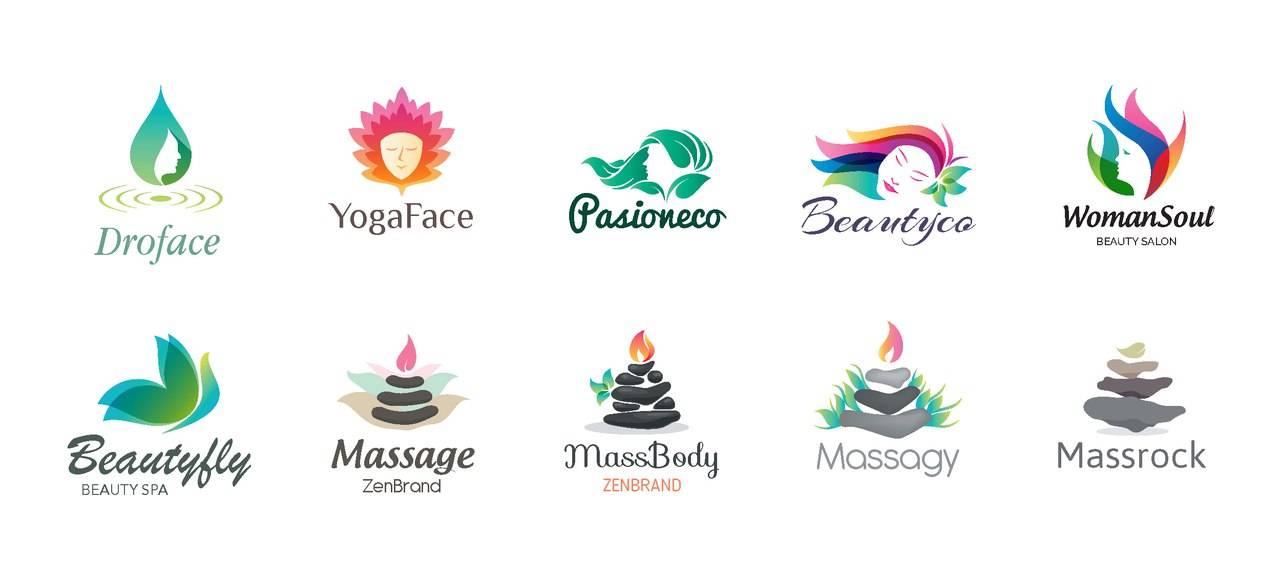 Шаблоны женских логотипов - спа салоны