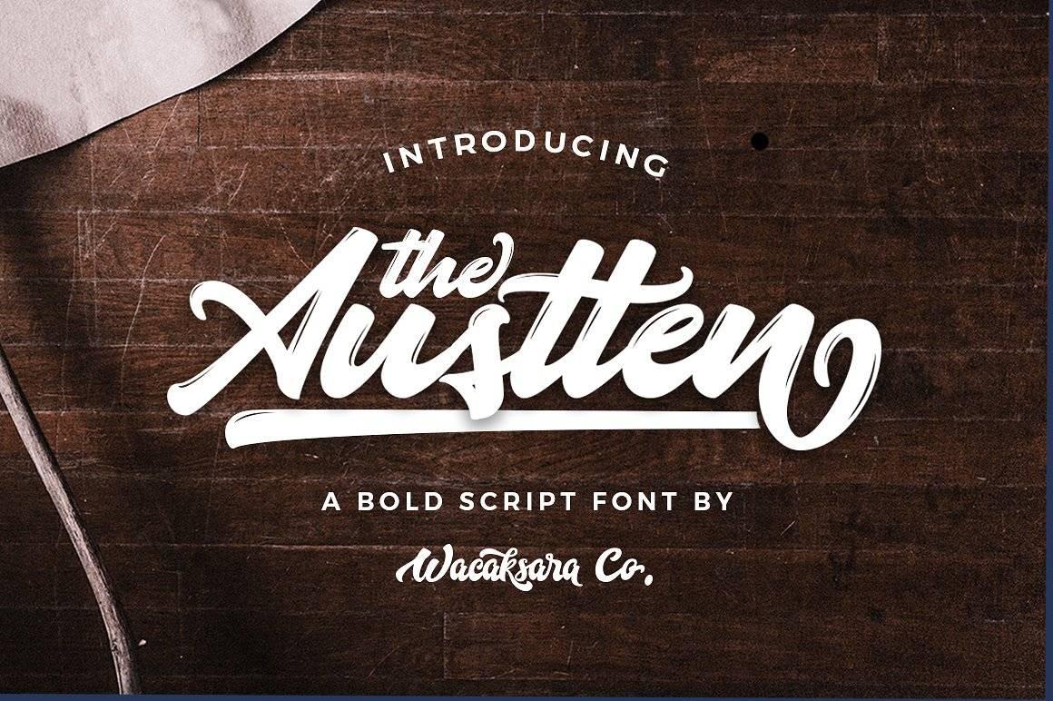 Шрифт Austten - Латиница 3