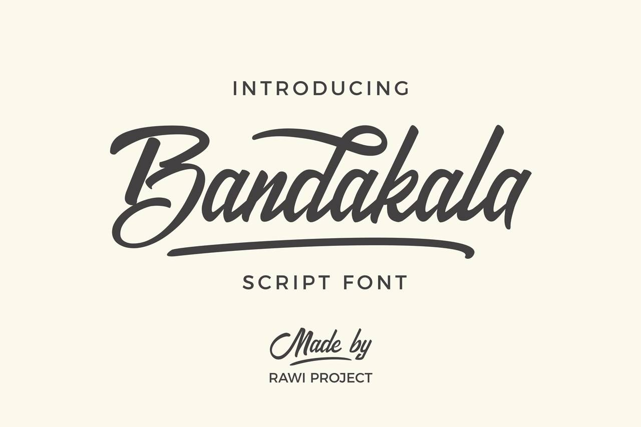 Шрифт Bandakala - Латиница 5