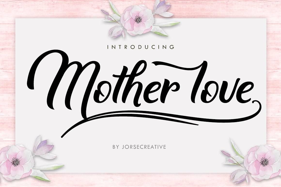 Шрифт - Mother love Латиница