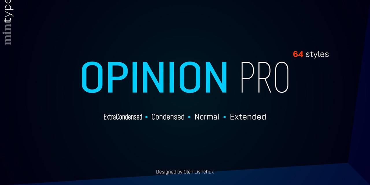 Шрифт - Opinion Pro Латиница и Кириллица